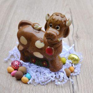 Vache en chocolat Pâques